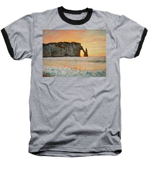 Etretat, Sunset  Baseball T-Shirt