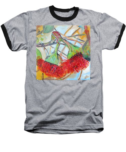 Eucalyptus Flowers Baseball T-Shirt