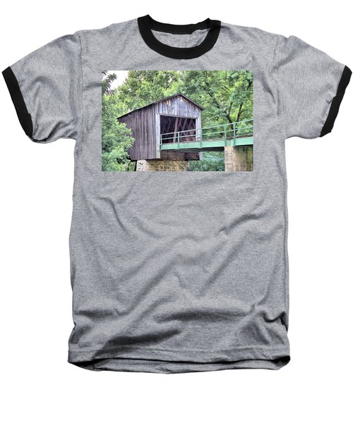 Euharlee Creek Covered Bridge Baseball T-Shirt