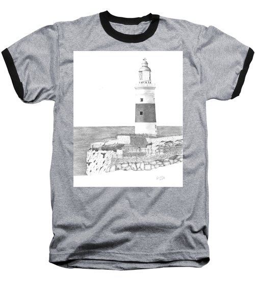 Europa Point Lighthouse Baseball T-Shirt