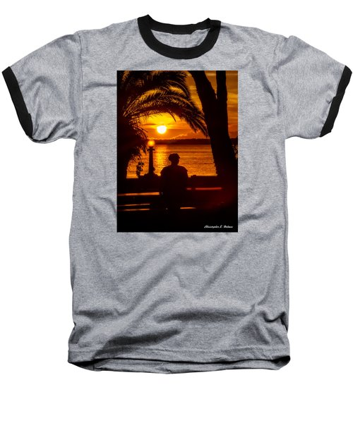 Baseball T-Shirt featuring the photograph Eustis Sunset by Christopher Holmes