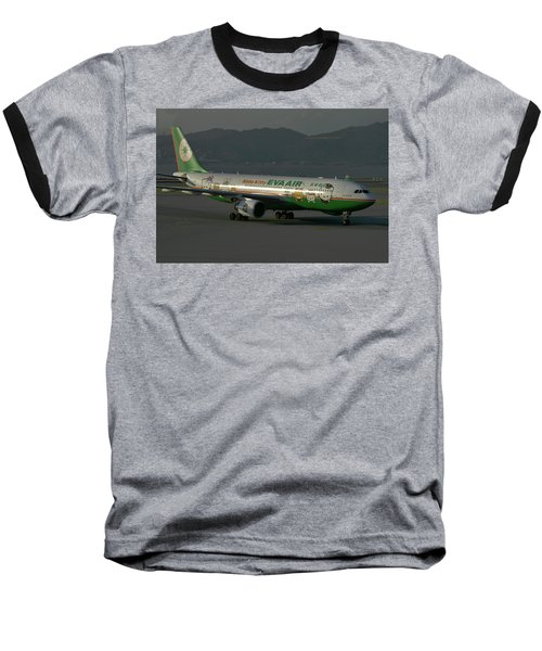 Eva Air Airbus A330-203 Baseball T-Shirt by Tim Beach