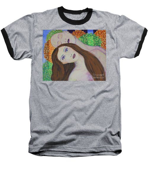 Baseball T-Shirt featuring the painting Eve Emerges by Kim Nelson