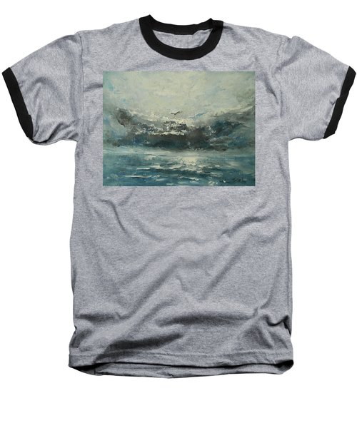 Even If The Skies Get Rough Baseball T-Shirt by Jane See