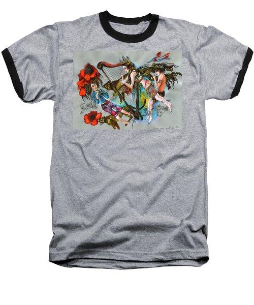Even Leopards Love The Music Baseball T-Shirt