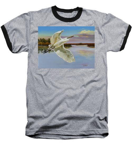 Evening At Campbell's Bayou Baseball T-Shirt