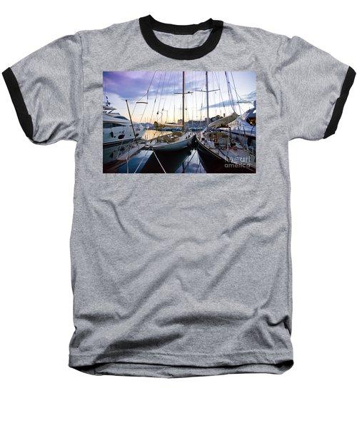 Evening At Harbor  Baseball T-Shirt