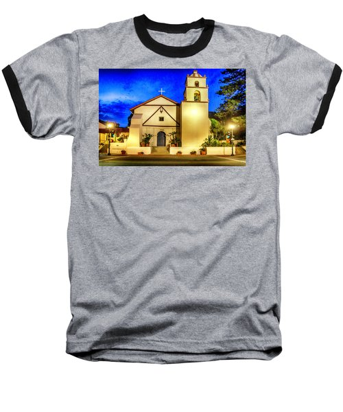 Evening At Mission San Buenaventura Baseball T-Shirt