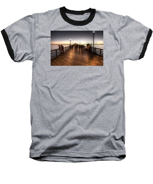 Evening At Oceanside Pier Baseball T-Shirt