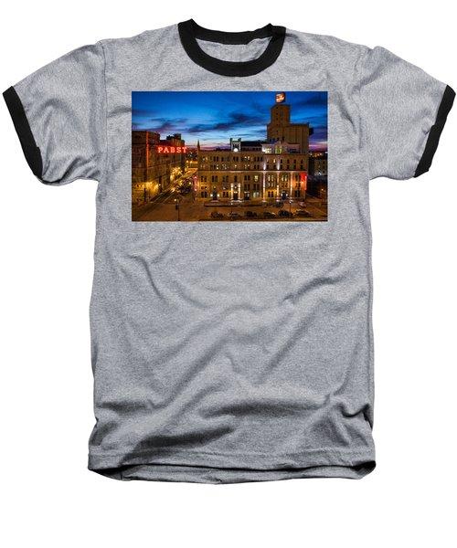 Evening At Pabst Baseball T-Shirt by Bill Pevlor