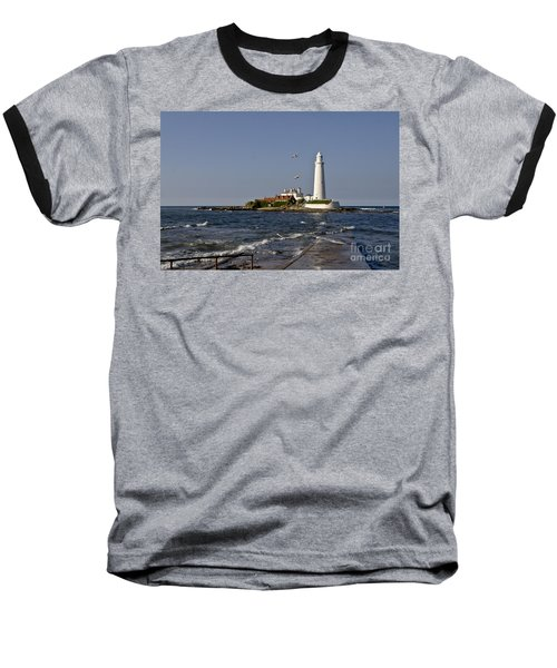 Evening At St. Mary's Lighthouse Baseball T-Shirt