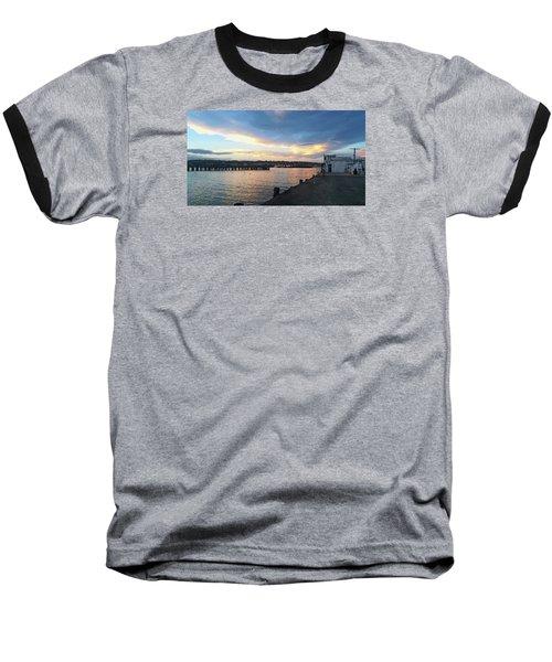 Baseball T-Shirt featuring the photograph Evening At The Bay by Nareeta Martin