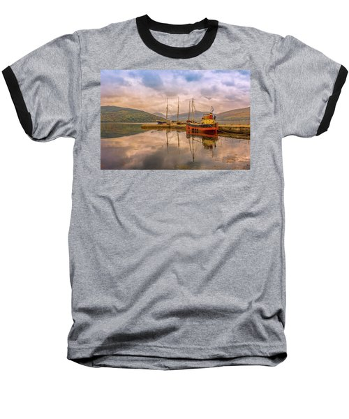 Evening At The Dock Baseball T-Shirt by Roy McPeak