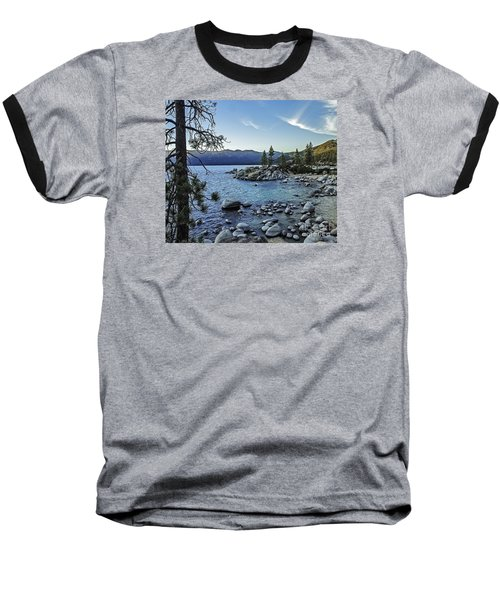 Evening At The Harbor-edit Baseball T-Shirt by Nancy Marie Ricketts