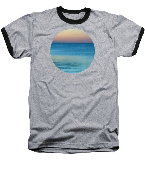Evening At The Lake Baseball T-Shirt by Mary Wolf