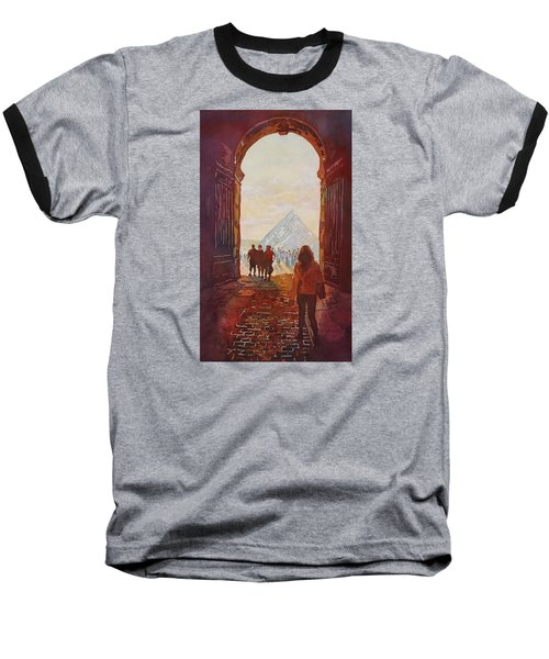 Evening At The Louvre Baseball T-Shirt by Jenny Armitage