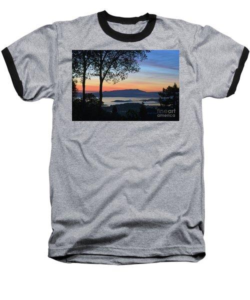 Evening Before Lunar Eclipse Baseball T-Shirt