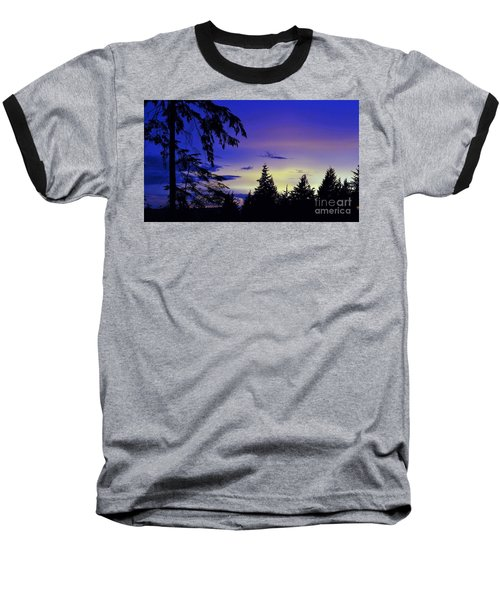 Baseball T-Shirt featuring the photograph Evening Blue by Victor K