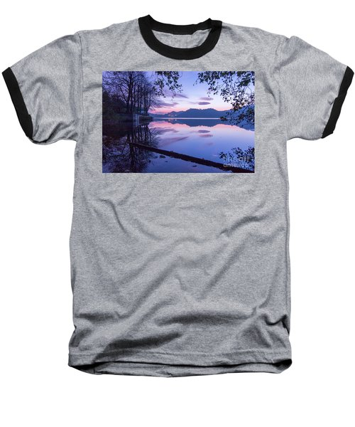 Evening By The Lake Baseball T-Shirt