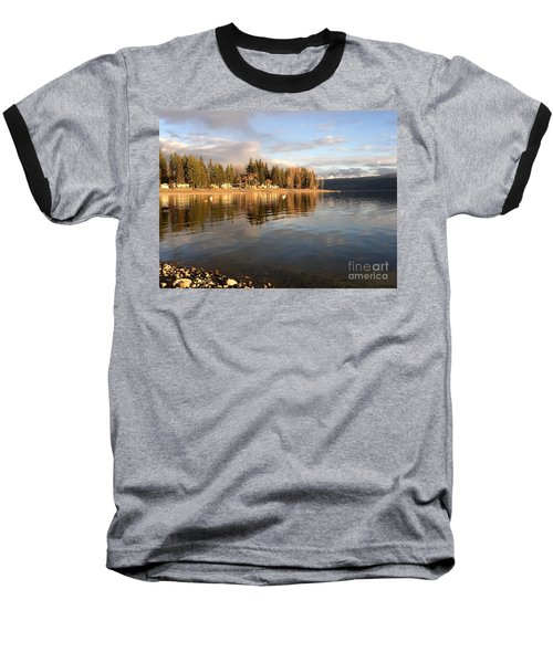 Evening By The Lake Baseball T-Shirt by Victor K