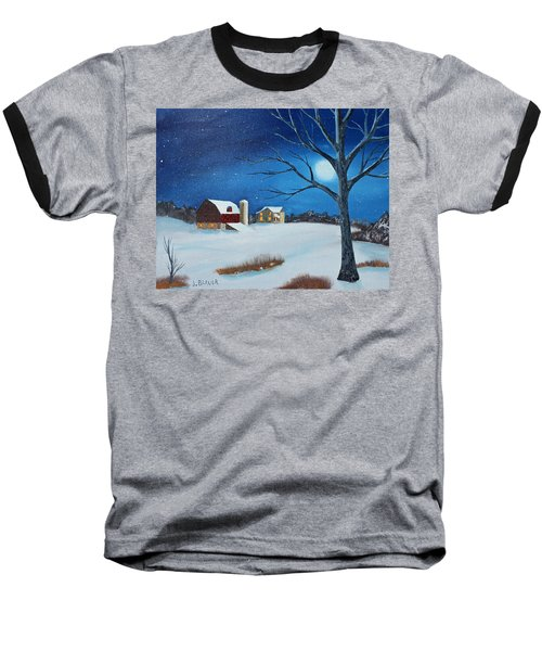 Baseball T-Shirt featuring the painting Evening Chores by Jack G Brauer