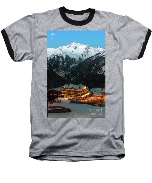 Evening Comes In Courchevel Baseball T-Shirt