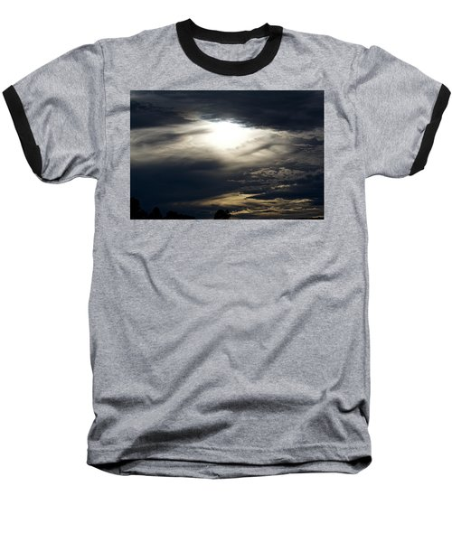 Evening Eye Baseball T-Shirt by Jason Coward