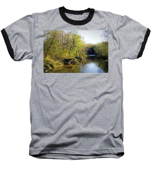 Evening Falls On Cedar Creek Baseball T-Shirt