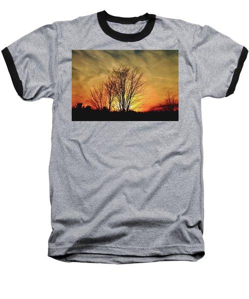 Evening Fire Baseball T-Shirt