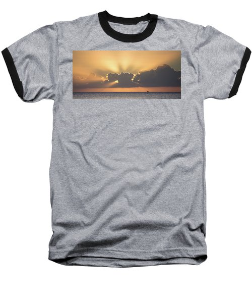 Evening Fishing Baseball T-Shirt