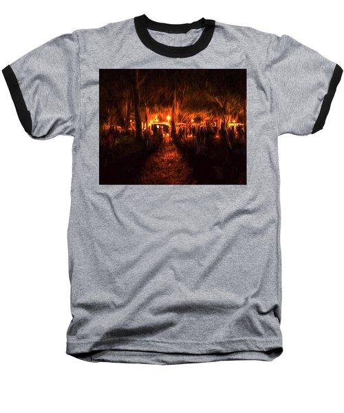 Evening Gathering Baseball T-Shirt
