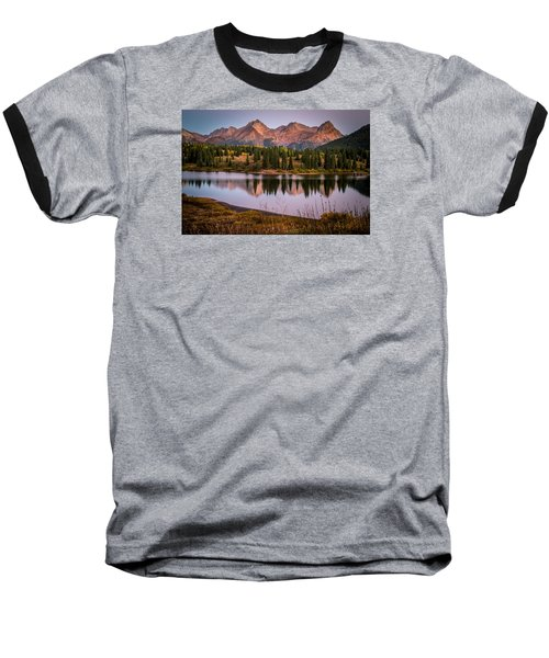 Evening Glow At Molas Lake Baseball T-Shirt by Michael J Bauer