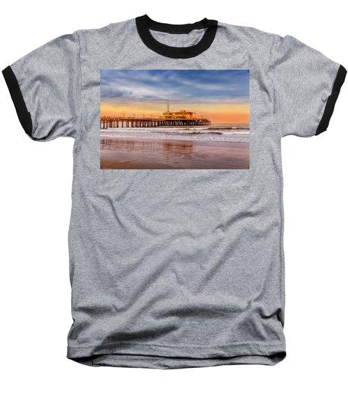 Evening Glow At The Pier Baseball T-Shirt