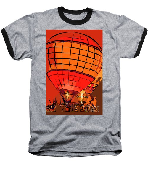 Evening Glow Red And Yellow In Abstract Baseball T-Shirt