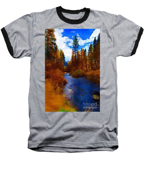 Evening Hatch On The Metolius Painting Baseball T-Shirt by Diane E Berry