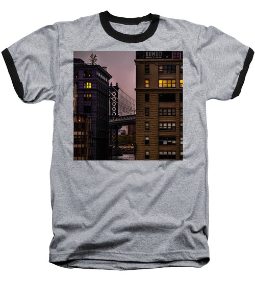 Baseball T-Shirt featuring the photograph Evening In Dumbo by Chris Lord