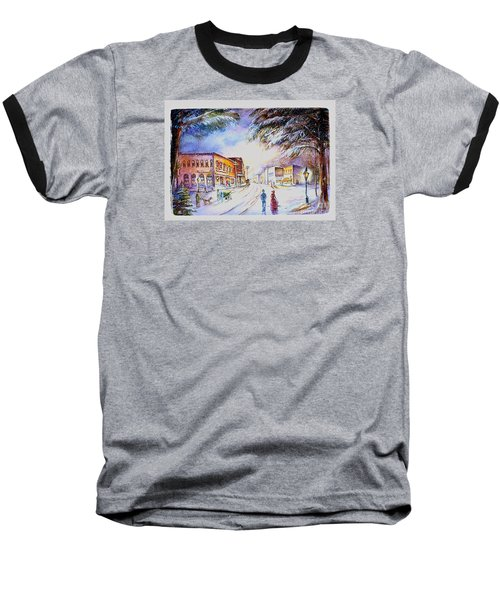 Baseball T-Shirt featuring the painting Evening In Dunnville by Patricia Schneider Mitchell