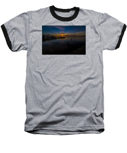 evening in Key Largo Baseball T-Shirt by Kevin Cable