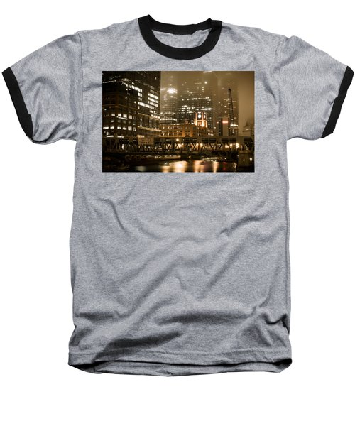 Evening In The Windy City Baseball T-Shirt by Miguel Winterpacht