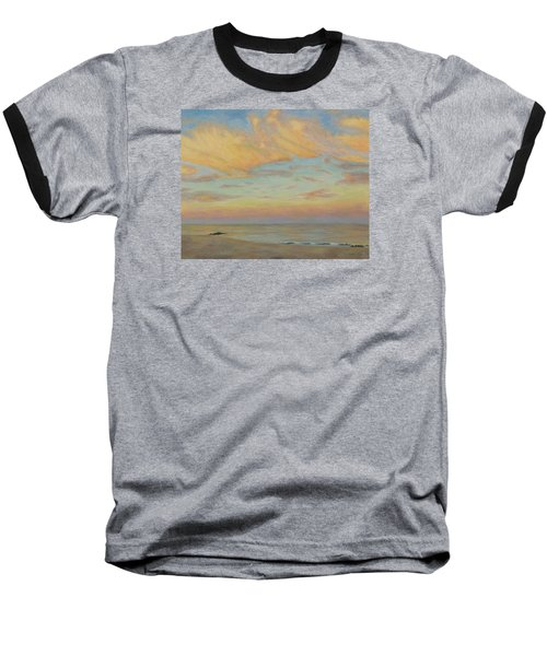 Baseball T-Shirt featuring the painting Evening by Joe Bergholm