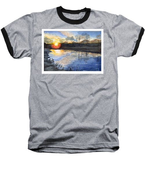 Baseball T-Shirt featuring the painting Evening by Katherine Miller