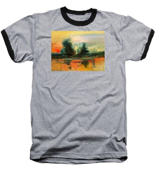 Evening Light Baseball T-Shirt by Allison Ashton