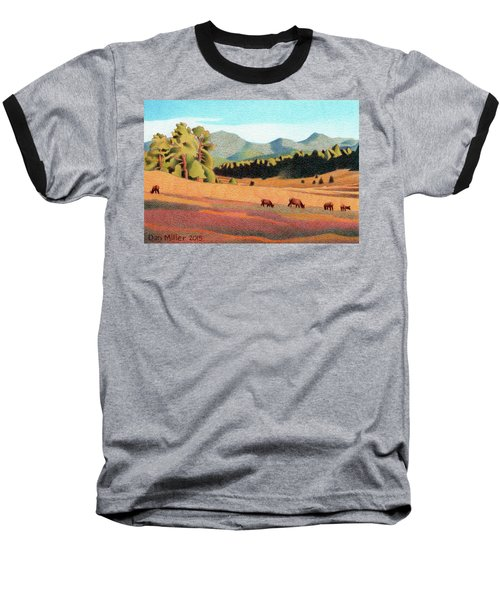 Evening Light Evergreen Baseball T-Shirt