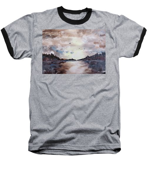 Evening Light Baseball T-Shirt by Geni Gorani
