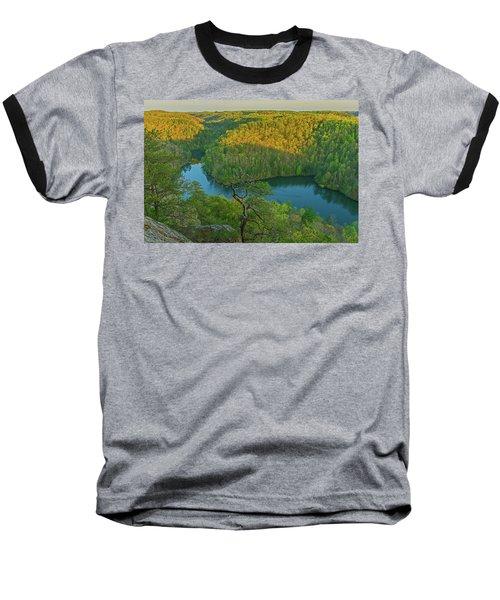 Evening Light In The Hills. Baseball T-Shirt by Ulrich Burkhalter