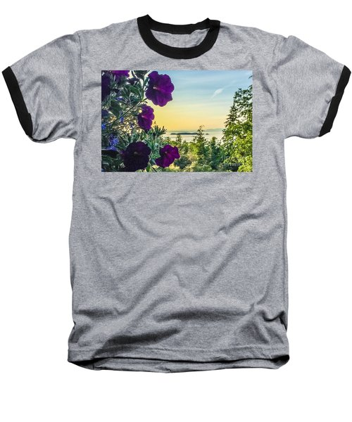 Evening Light On Orcas Island Baseball T-Shirt by William Wyckoff