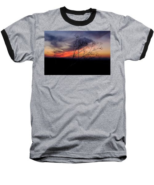 Evening Light Over Meadow Baseball T-Shirt