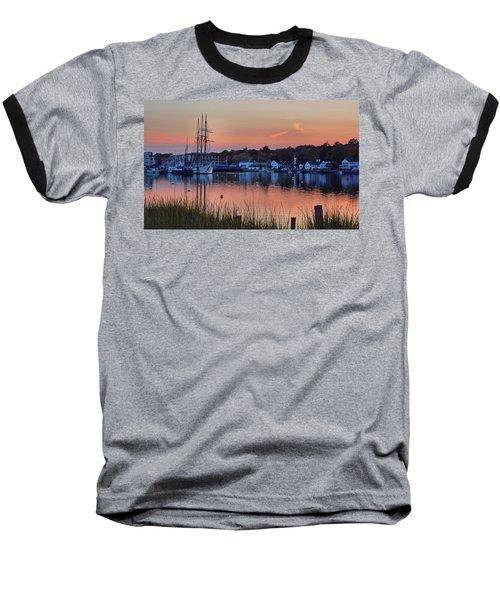 Evening Light Over Mystic Baseball T-Shirt