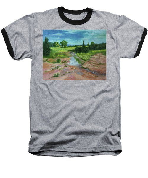 Baseball T-Shirt featuring the painting Evening Light by Roena King