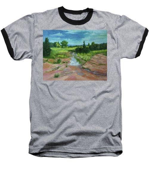 Evening Light Baseball T-Shirt by Roena King